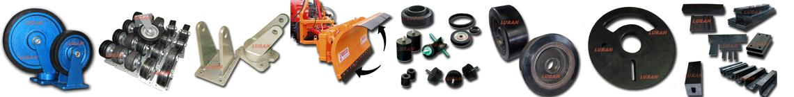 točkovi povećane nosivosti, gumeni elementi, gumene podloge, gumeni odbojnici, gumene obloge, gumeni elementi