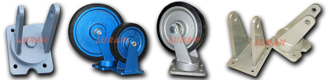 Metalni točkovi povećane nosivosti sa gumom i elementi za točkove
